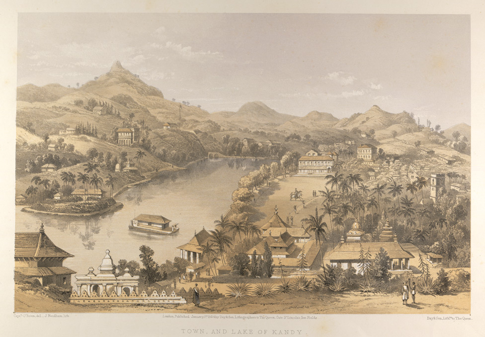 Town and lake of Kandy